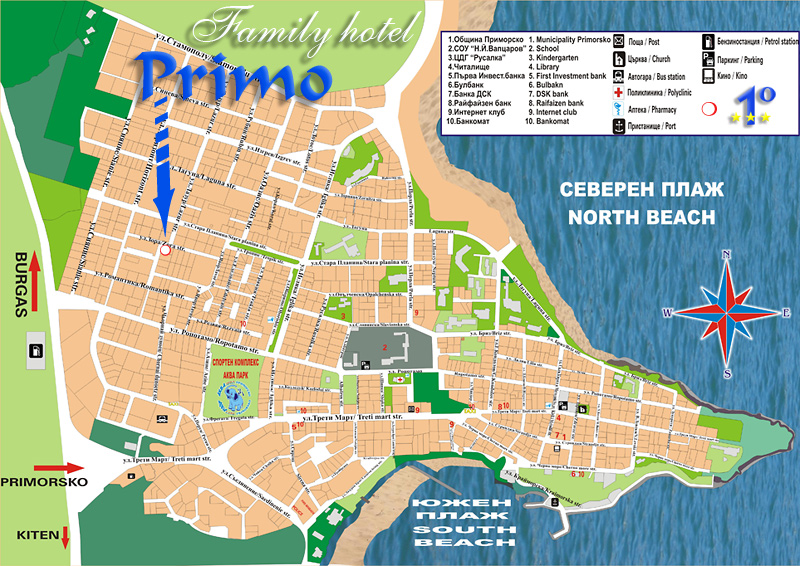 Map of Primorsko